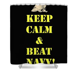 Beat Navy Shower Curtain