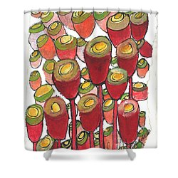 Beating Of The Drum Shower Curtain by Sherry Harradence