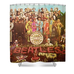 Beatles Lonely Hearts Club Band Shower Curtain