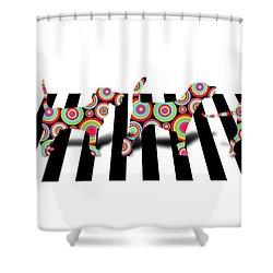 Beatles Dogs Shower Curtain by Mark Ashkenazi