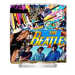 Beatles For Summer Shower Curtain
