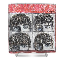 Beatles Hard Day's Night Shower Curtain