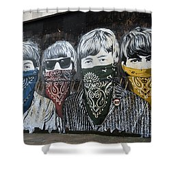 Beatles Street Mural Shower Curtain
