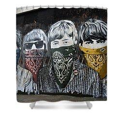 Beatles Street Mural Shower Curtain