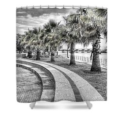 Beaufort Sc Water Front Park Shower Curtain