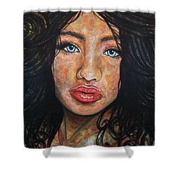 Shower Curtain featuring the painting Beautiful Ambiguity by Malinda  Prudhomme