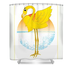 Beautiful Is The Flamingo Shower Curtain by Stanley Mathis