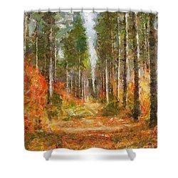 Beautiful Autumn Shower Curtain by Dragica  Micki Fortuna