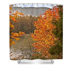 Shower Curtain featuring the photograph Beautiful Autumn Gold Art Prints by Valerie Garner