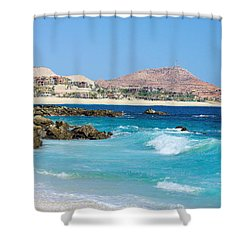 Beautiful Beach On The Sea Of Cortez Shower Curtain by John  Greaves