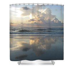 Beautiful Beach Sunrise Shower Curtain