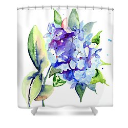 Beautiful Blue Flowers Shower Curtain