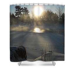 Beautiful Brisk Morning Shower Curtain