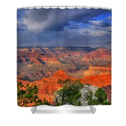Shower Curtain featuring the painting Beautiful Canyon by Bruce Nutting