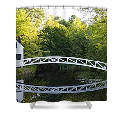 Beautiful Curved Bridge In Somesville Shower Curtain by Bill Bachmann