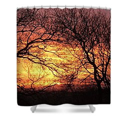 Beautiful Dawn Shower Curtain by Richard Brookes