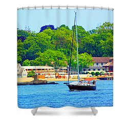 Beautiful Day For Sailing Shower Curtain