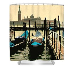 Shower Curtain featuring the photograph Beautiful Day In Venice by Brian Reaves