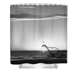 Beautiful Disaster Bw Shower Curtain by Michael Ver Sprill