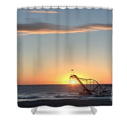 Beautiful Disaster Shower Curtain by Michael Ver Sprill