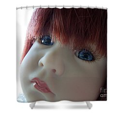 Beautiful Doll Shower Curtain by Renee Trenholm