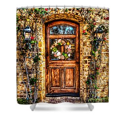 Shower Curtain featuring the photograph Beautiful Entry by Jim Carrell