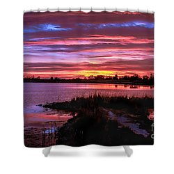 Beautiful Evening Shower Curtain by Robert Bales