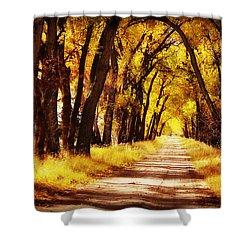 Beautiful Fall Day In Nebraska Shower Curtain