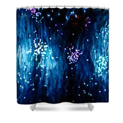 Beautiful Fireworks  1 Shower Curtain by Lanjee Chee