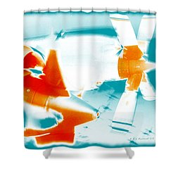 Shower Curtain featuring the photograph Fixed Wing Aircraft Pop Art Poster by R Muirhead Art