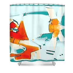 Shower Curtain featuring the photograph Fixed Wing Aircraft Pop Art by R Muirhead Art