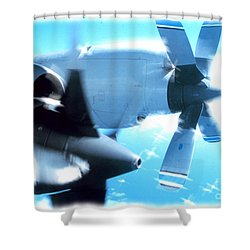 Shower Curtain featuring the photograph Beautiful Fixed Wing Aircraft by R Muirhead Art