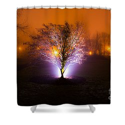 Beautiful Foggy Night 2 Shower Curtain