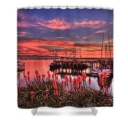 Beautiful Harbor Shower Curtain
