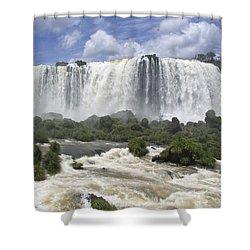 Beautiful Iguazu Waterfalls  Shower Curtain