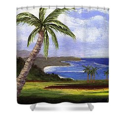 Shower Curtain featuring the painting Beautiful Kauai by Jamie Frier