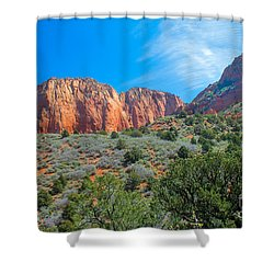 Beautiful Kolob Canyon Shower Curtain by Robert Bales