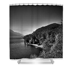 Beautiful Lake George Shower Curtain by David Patterson