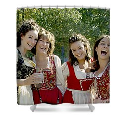 Beautiful Maidens Shower Curtain by Brian Wallace