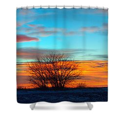 Beautiful Mornin' Panorama Shower Curtain by Bonfire Photography