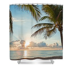 Beautiful Morning In Ft. Lauderdale Florida Shower Curtain by Sharon Dominick