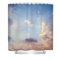 Beautiful Orange Sunset Shower Curtain