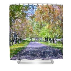 Beautiful Pathway Shower Curtain by Kathleen Struckle