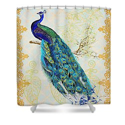 Beautiful Peacock-b Shower Curtain by Jean Plout