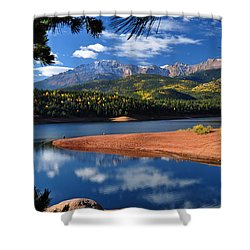 Beautiful Pikes Peak At Crystal  Shower Curtain