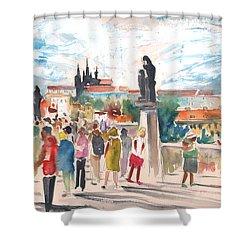 Beautiful Prague Shower Curtain by Miki De Goodaboom