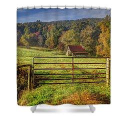 Beautiful Reds Of Autumn Shower Curtain by Debra and Dave Vanderlaan