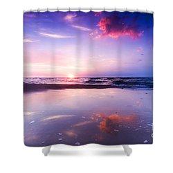 Beautiful Sea Sunrise Shower Curtain by Michal Bednarek