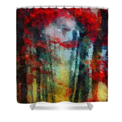 Shower Curtain featuring the painting Beautiful Secrets by Joe Misrasi