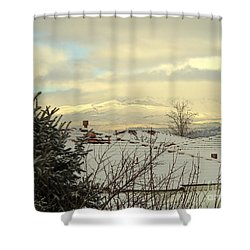 Beautiful Sparkling Snow Shower Curtain by Phyllis Kaltenbach